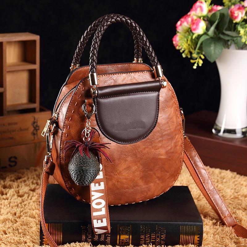 Black Brown Tassel Genuine Leather Tote Bags For Women Handbags Women Bags Cowhide Shoulder Bag Ladies Sac T23