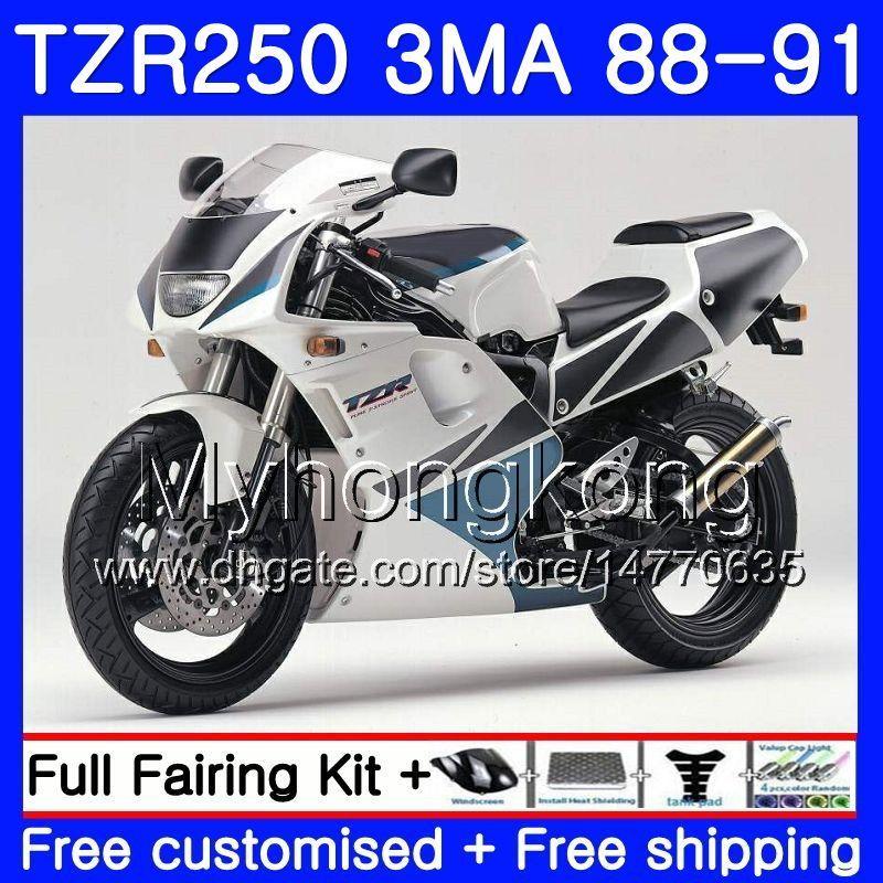 키트 YAMAHA TZR250RR TZR-250 TZR 250 88 89 90 91 본체 244HM.42 TZR250 RS RR YPVS 3MA TZR250 1988 1989 1990 1991 페어링 화이트 블루 스톡