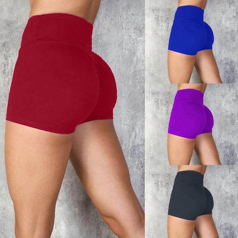 2020 Fitness Femme Tight élastique taille haute Mouvement Hip Sexy Yoga Courir Gym Shorts 26 mai