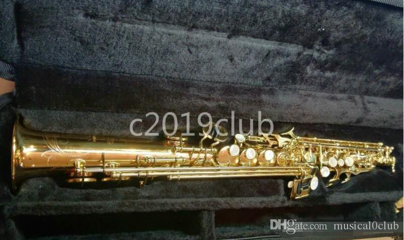 YANAGISAWA W020 Soprano Saxophone Instrument de musique B Flat Brass VERNI Nouveau Arrivée Saxophone avec Accessoires
