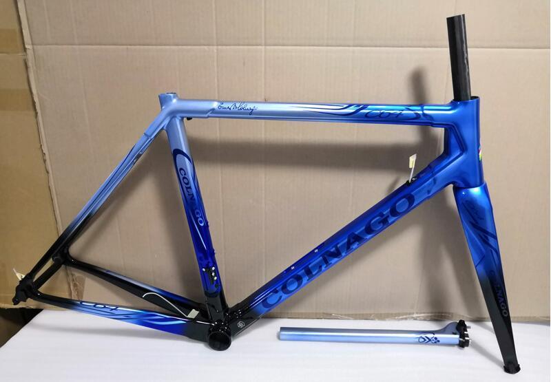Can nakliye xdb Yeni 2020 Colnago C60 Karbon Yol bisiklet Çerçeve tam karbon fiber bisiklet çerçeve karbon bisiklet çerçevesi daha farklı renk