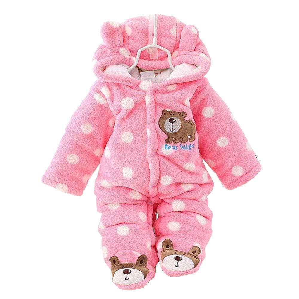 Bibicola Baby Girls Plus terciopelo abrigo más grueso traje infantil recién nacido mameluco monos para niña niño de algodón ropa de abrigo Q190518