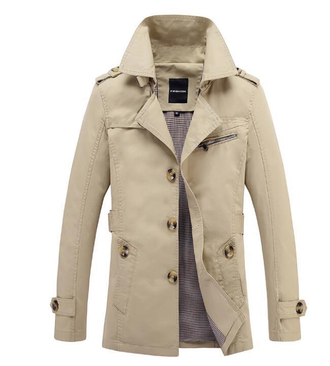 2020 Spring spalline bavero cinghie dei nuovi uomini giacca a vento sottile del cappotto di colore solido tuta sportiva del cappotto del rivestimento
