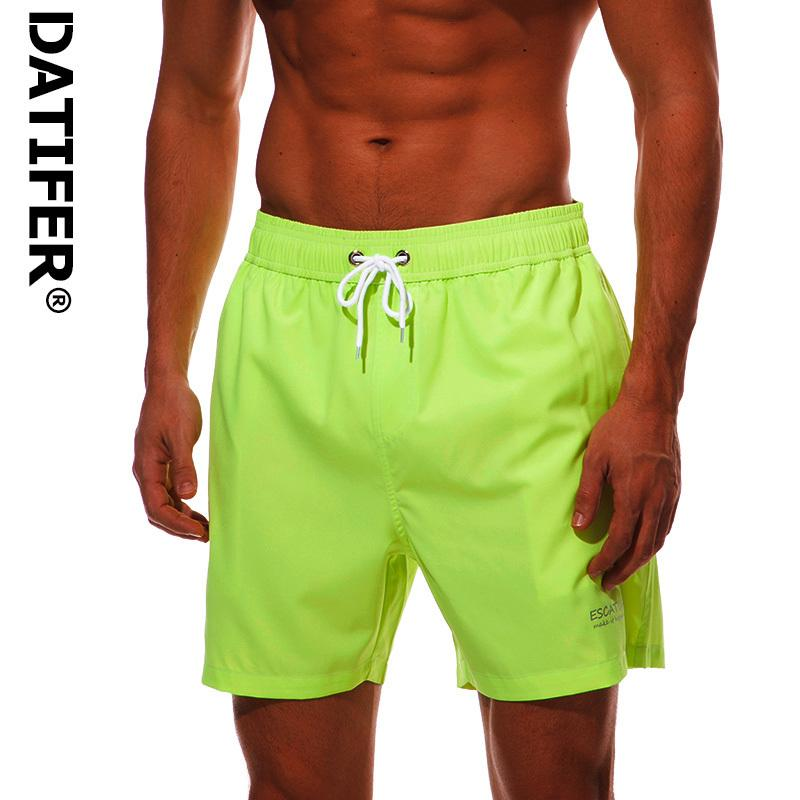 Four Way Stretch Fabric Summer Board Shorts Mens Swimming Trunks Surf Swimwear Beach Short Swimsuit Running Shorts Men Jog Short C19040801