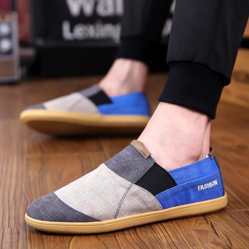 2019 Yaz Nefes Erkek Tuval Ayakkabı Kore Lazy Tide Shoes Bir Pedal Seti Ayak Casual Erkek Günlük Spor Ayakkabıları