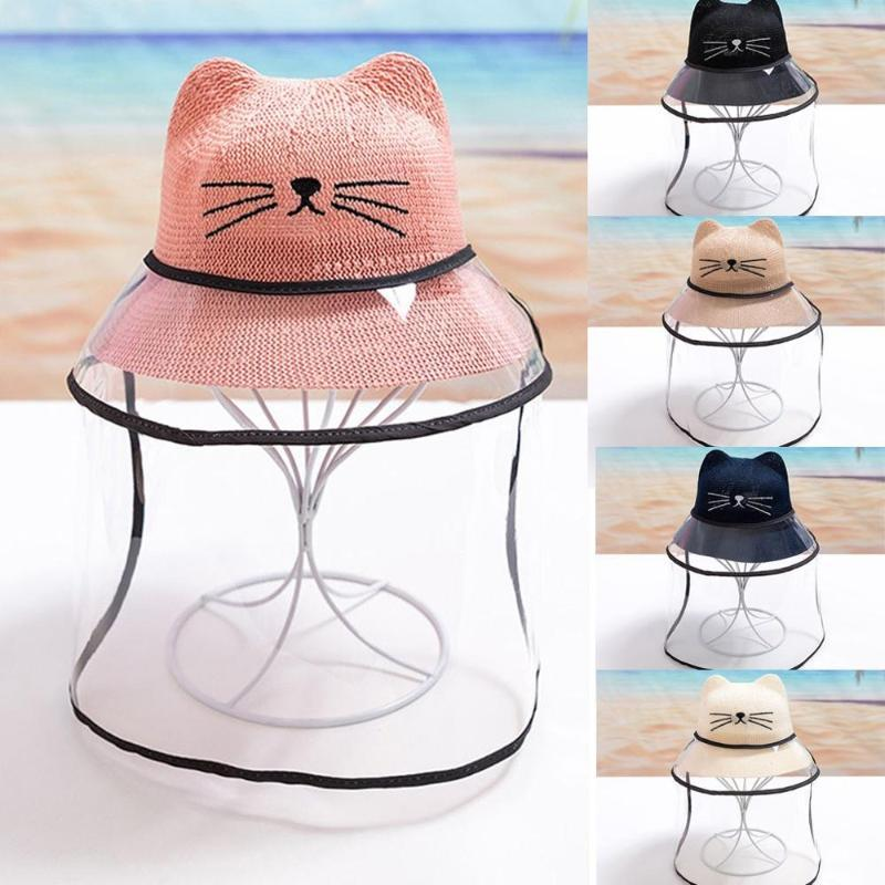 Summer Baby Cap Cute Ear Anti-spitting Protective Hat Dustproof Cover Boys Girl Protective Fisherman Cap Hats 2FM