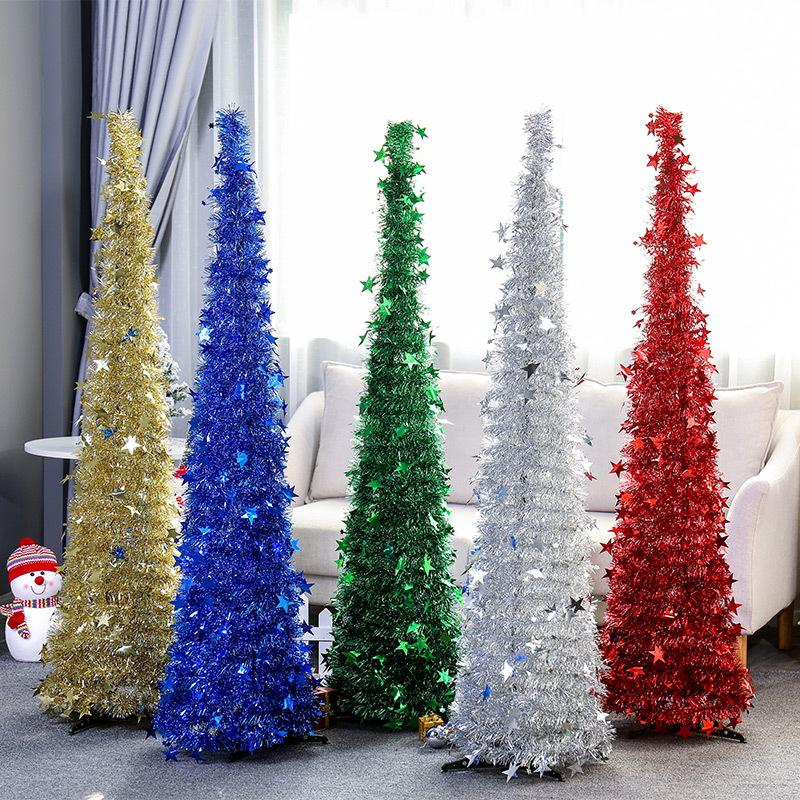 Suministros Urijk creativa árbol de Navidad árbol de Navidad Top de lana retráctiles plegables Adornos de Navidad Festival de decoración para el hogar