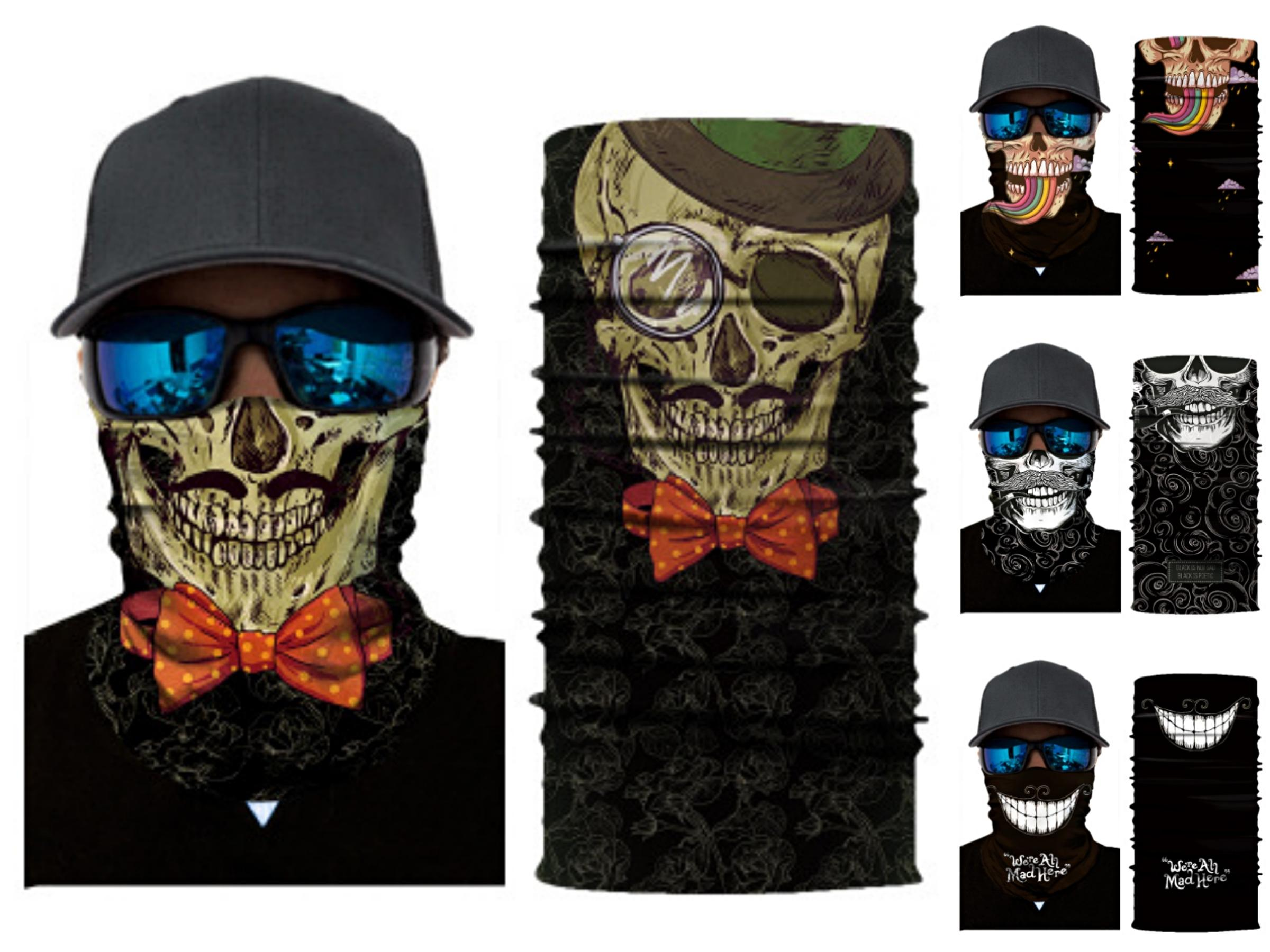 JDmCu Seamless Multifunction Turban Brand Letters E Riding Mask Magic Skull Scarf Half Cycling Mask Outdoor Face Mask Neck Skull Scarf#788