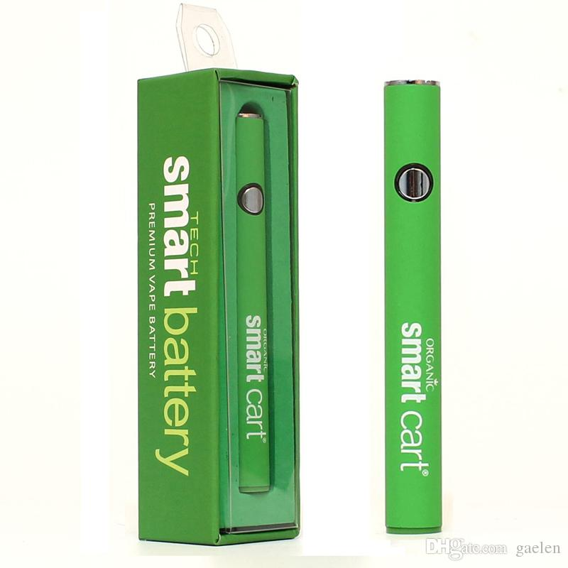 Smart Battery 510 Threading Smart Cart Vape Pen Green 380mah Variable Voltage Preheating Vape Battery With USB
