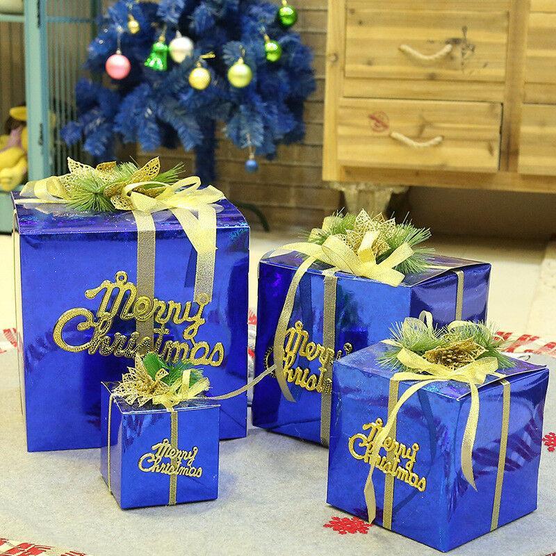 Caja de regalo de Navidad grande Presente cajas de embalaje de la cinta Maneja Cajas grandes