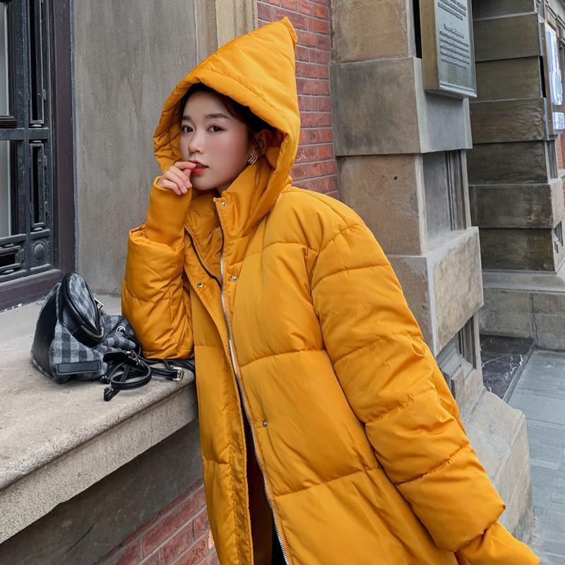 Женские Parkas красивая зимняя женщина длинные раздел мягкие ремни персонализированные рождественские шляпы хлопковая куртка