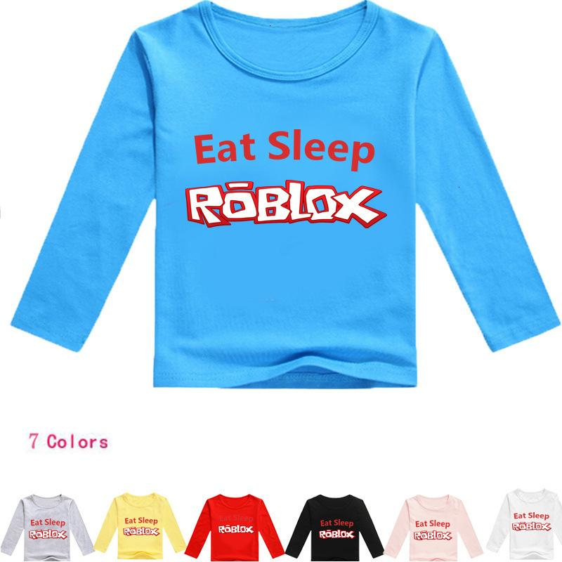 2020 Children Red Roblox Nose Day Cartoon Printing Long Sleeves Shirt Childrens Wear T056 T Shirts From Crystal03 25 39 Dhgate Com