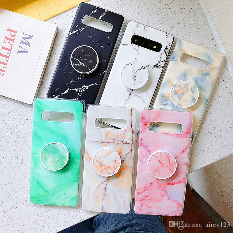 New Arrival Stand Cover Kickstand Bracket Phone Holder Marble Case for Samsung Galaxy A10 A20 A30 A50 A70 S9 S10 Plus Note 10