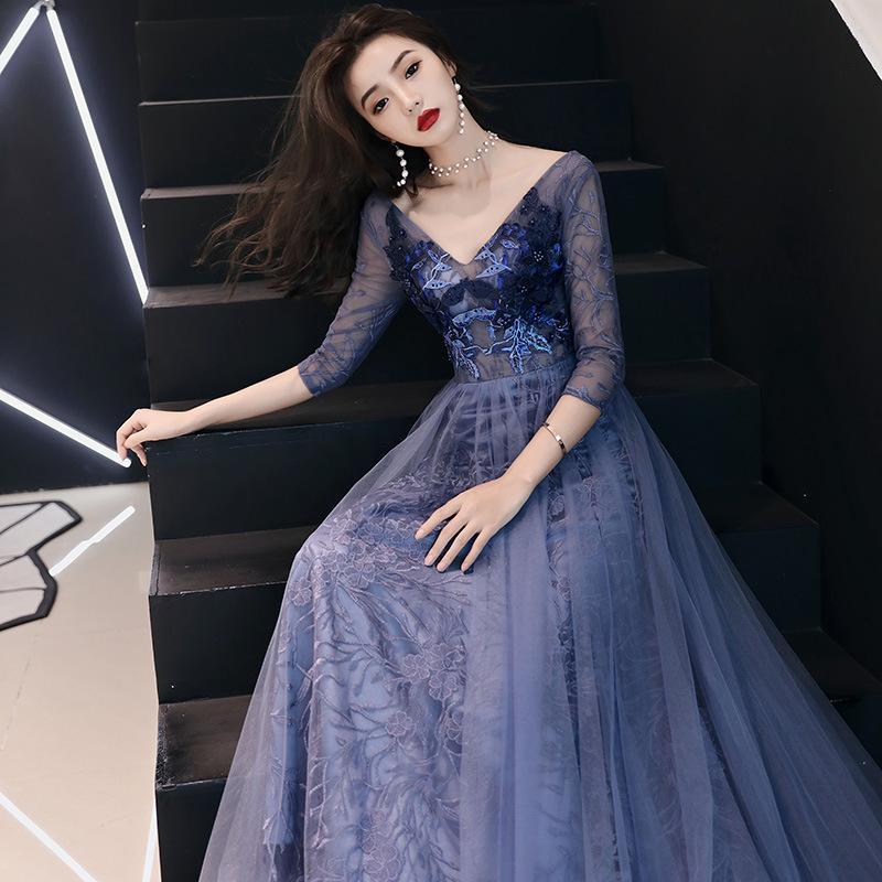 2020 sırtı açık açık yarım kollu sırf bel V boyun seksi bayan sıkı balo elbisesi parti elbise yukarı dantel ile içi boş etek pilili