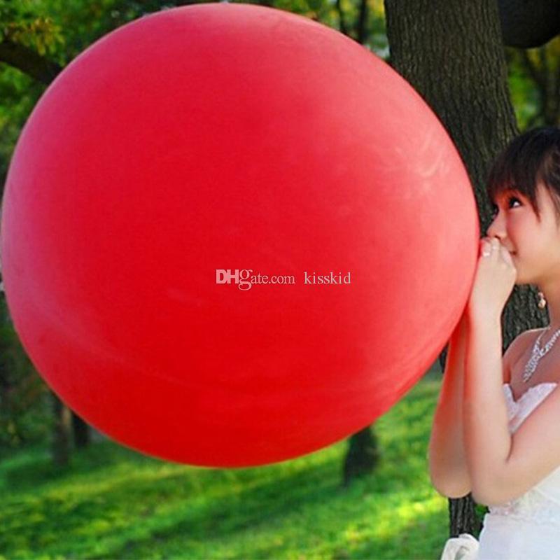 Palloncini giganti rotondi in lattice da 36 pollici Palloncini giganti Matrimonio Buon compleanno Anniversario Decor 80cm Multi colori