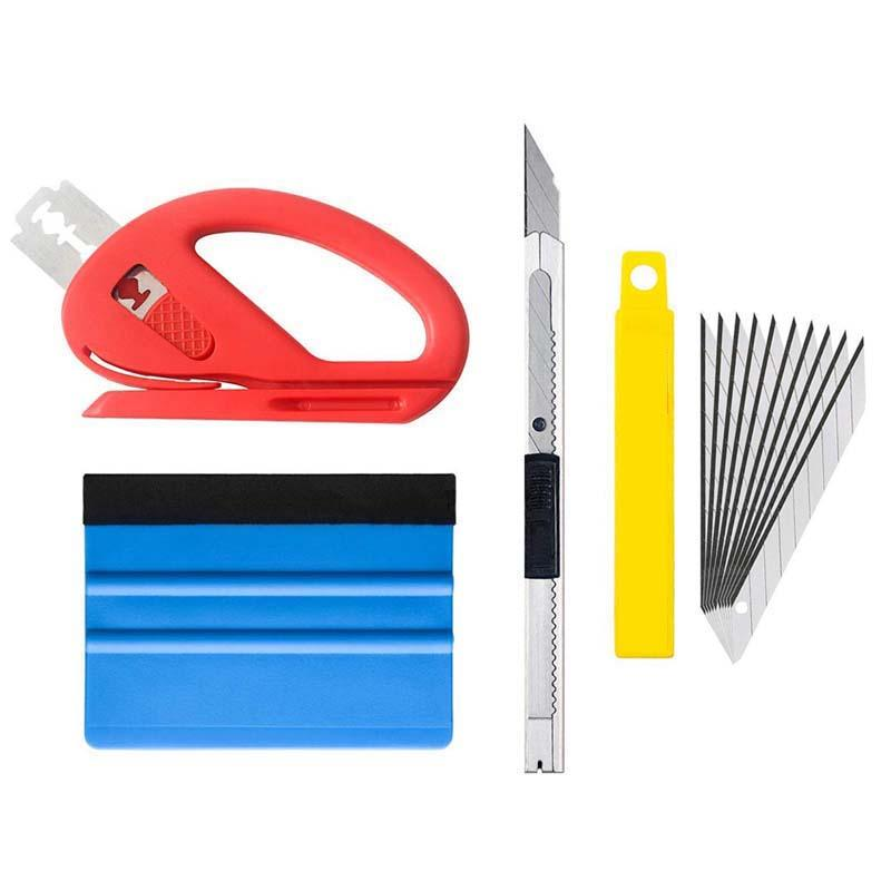Car Wrap Tools Set Stickers Decals Film Magnetic Squeegee Scraper Wrapping Tools Set Vinyl Car Wrap Sticker Cutter Knife Styling Tool