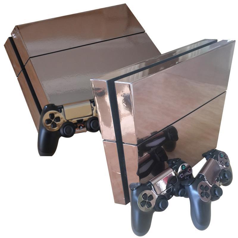 PS4의 피부 PS4 콘솔과 컨트롤러 스티커 플레이 스테이션 4 PVC 비닐 보호 커버 데칼 골드 스킨 스티커
