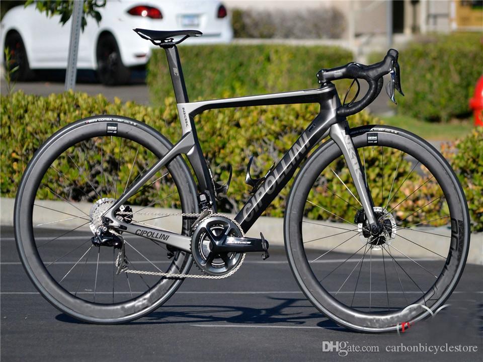 Sliver Cipollini Nk1K Disque Carbon Road Complete Bike R7020 R8020 GROUPE CIPOLLINI COPOLLINI GOODBAR + SELLE DE CARBONE