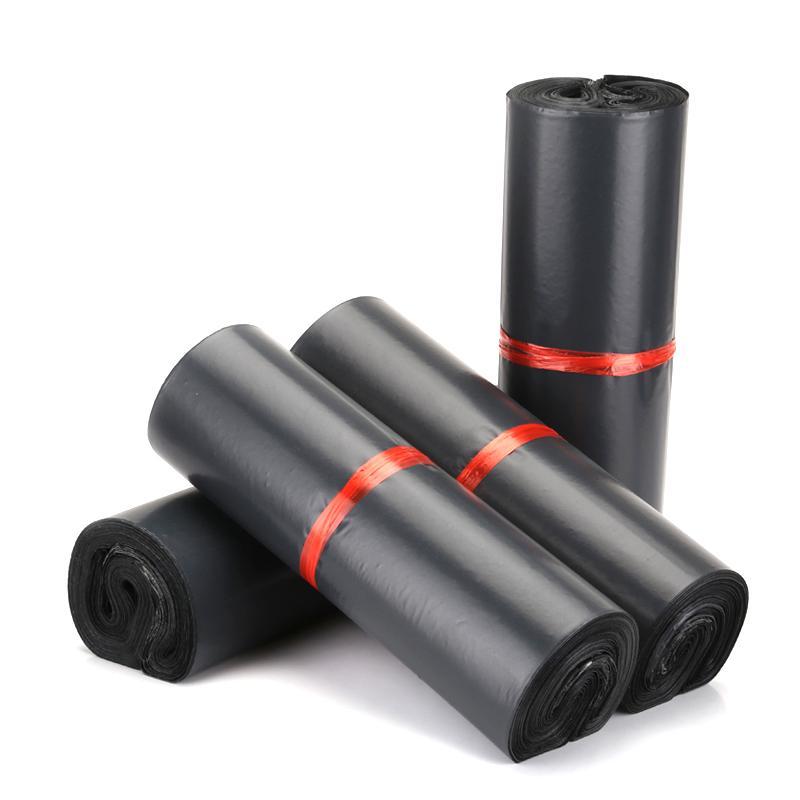 (100 개 조각 / 많이) 블랙 익스프레스 가방 두꺼운 방수 의류 포장 가방 물류 플라스틱 택배 가방
