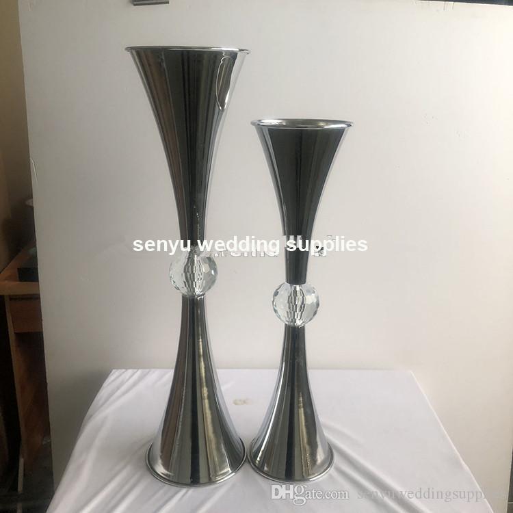 New style High Quality crystal diamond Wedding Decoration Table Centerpieces Flower Vase senyu0181