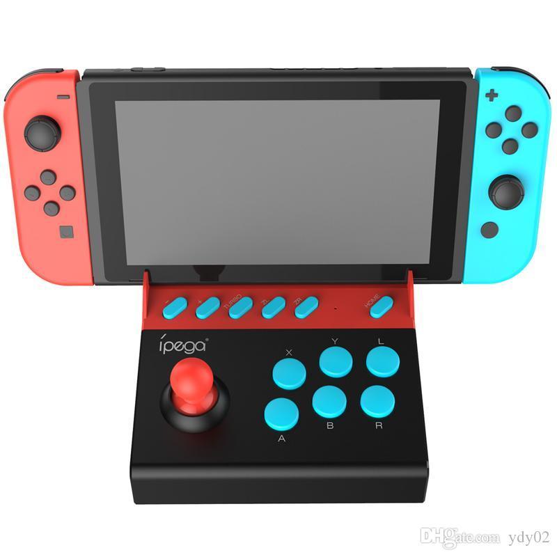 높은 품질 iPEGA PG - 9136 게임 패드 트리거 컨트롤러 모바일 조이스틱 검투사 미니 팜 로커 거리 기계 닌텐도 스위치 DHL에 대한