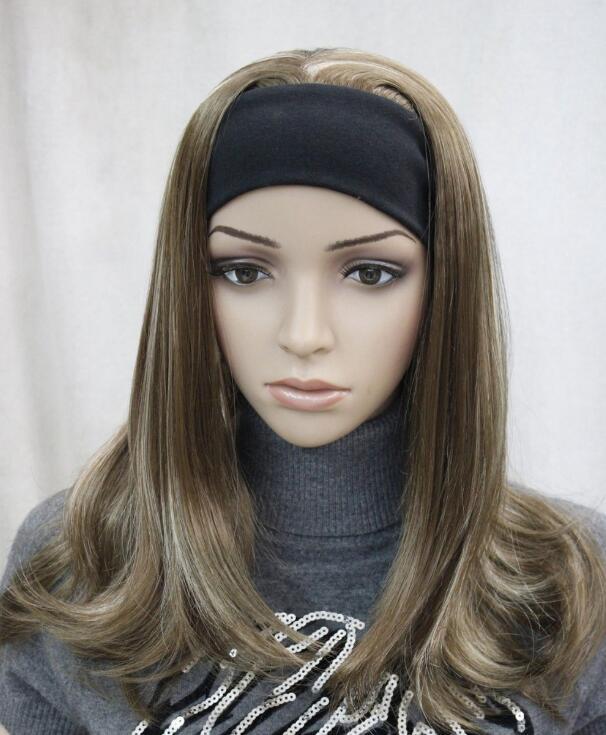 PERUK Moda Açık Kahverengi Sarışın Karışık kadınlar Günlük 3/4 yarım peruk + kafa