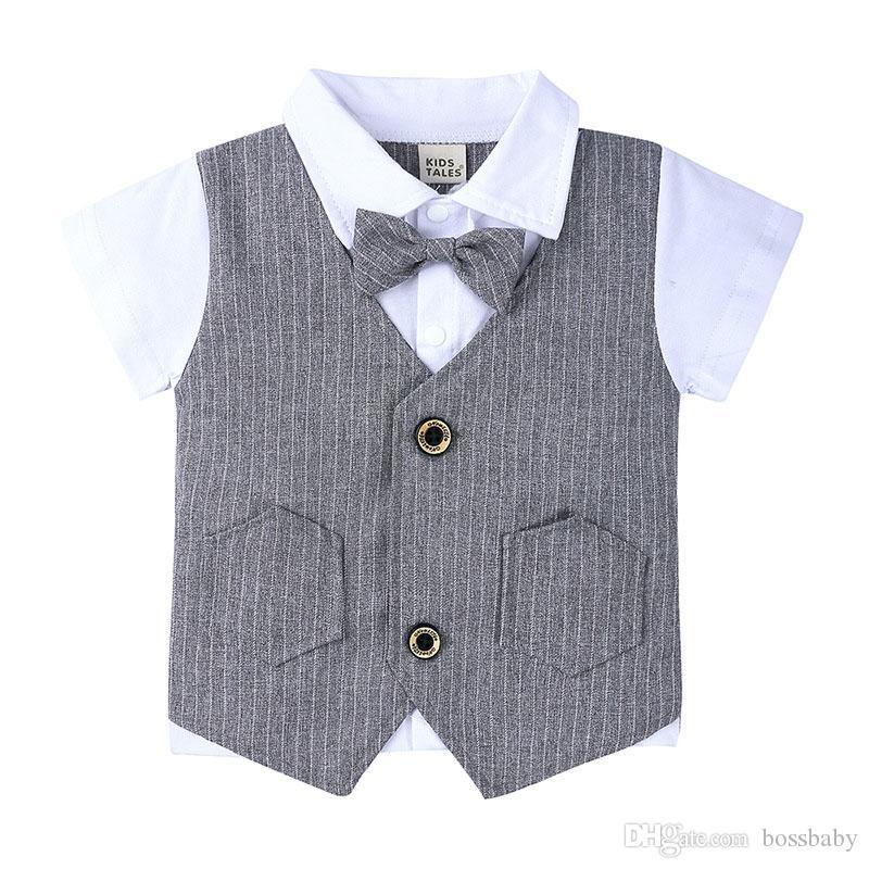 Bambini England Set di abbigliamento barrato girano-giù supera i pantaloni di scarsità insiemi a due pezzi dei bambini vestiti casuali dei vestiti del ragazzo 9M-4T 07
