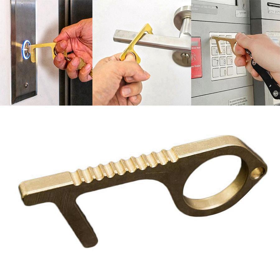 Нет-Touch отпирание двери ближе Портативный Стик для раздвинуть Лифт Баттона Держите руки чистой самоочистки многоразового брелока партии благосклонность RRA3174