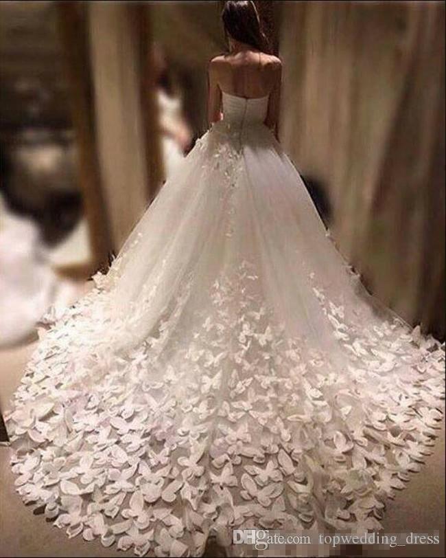 compre 2019 nueva moda vestidos de novia corte de tren apliques