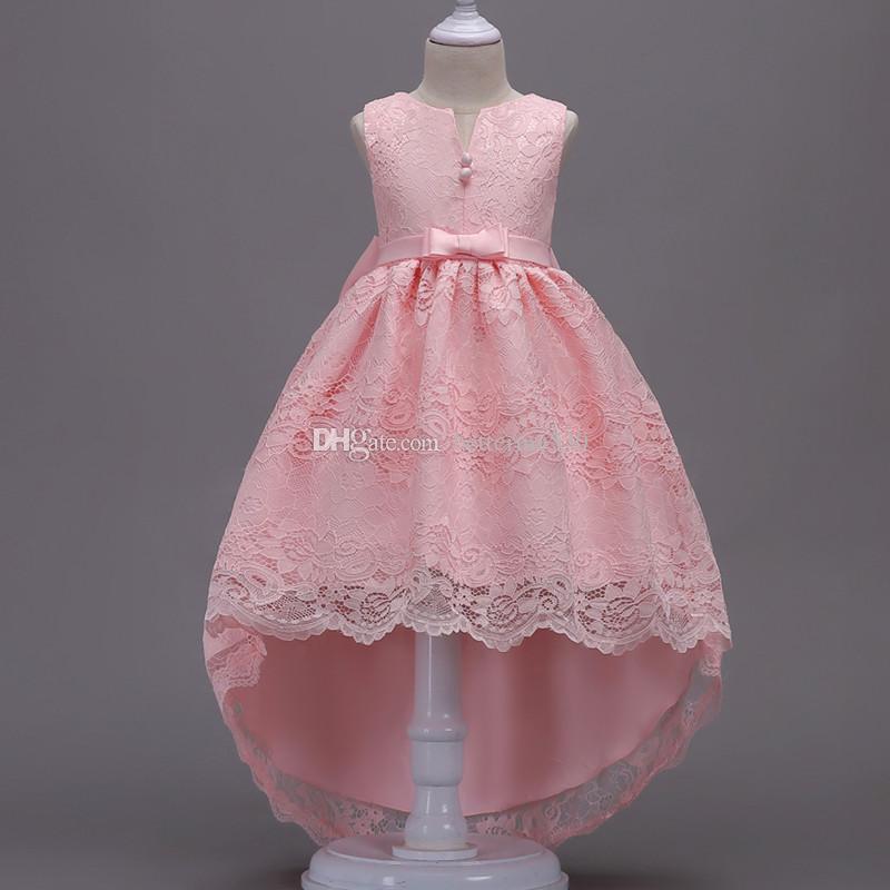 Compre Niñas Vestidos De Boda De La Princesa Partido Del Desfile Formal Prom Vestidos Del Tamaño De 3 14 Años 2019 Ropa Nueva Muchacha Del Cabrito A
