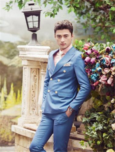 Fashion Design Double Breasted Suits Suits Custome Homme Fashion Tuxedos Groom Bestmen Terno Wedding Men Business Office