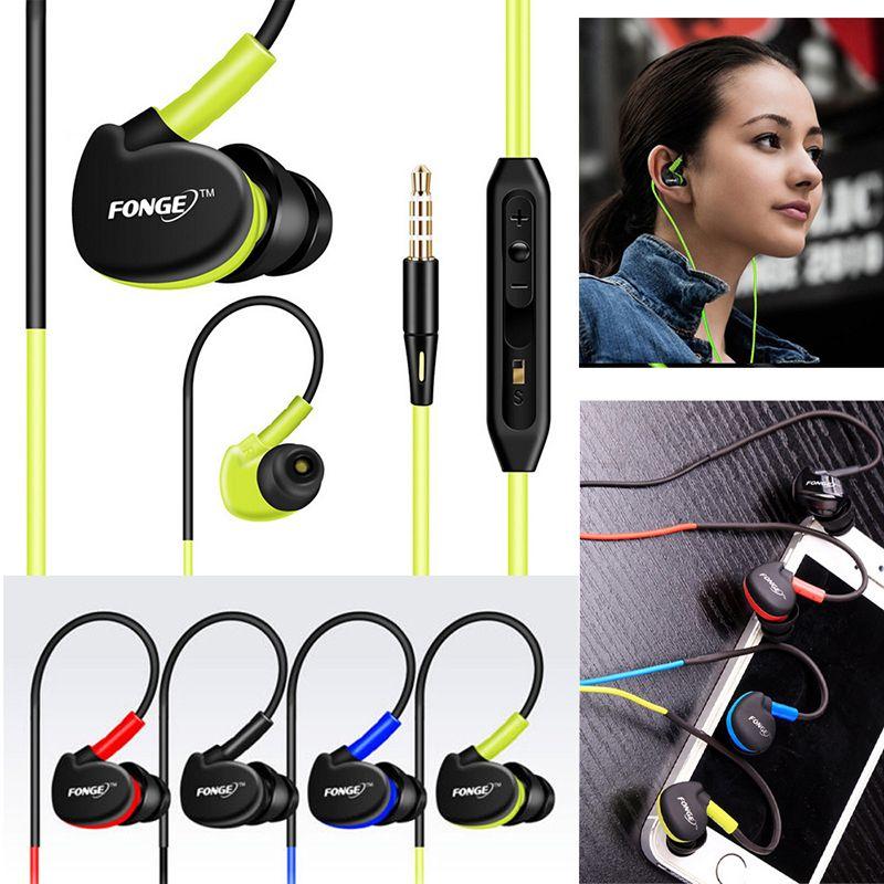 3.5 mm Stereo Earphones Sport Running Headset Super Bass Headset IPX5 Waterproof HIFI Handsfree Earbuds With Mic
