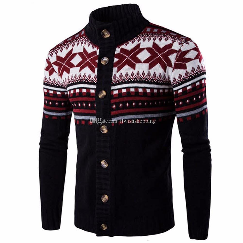 2019 New Fashion Casual Autumn Winter Mens Sweaters Thick Long Sleeve Wool  Botton Men Sweater Jacket Casual Knitted Sweater Outwear From