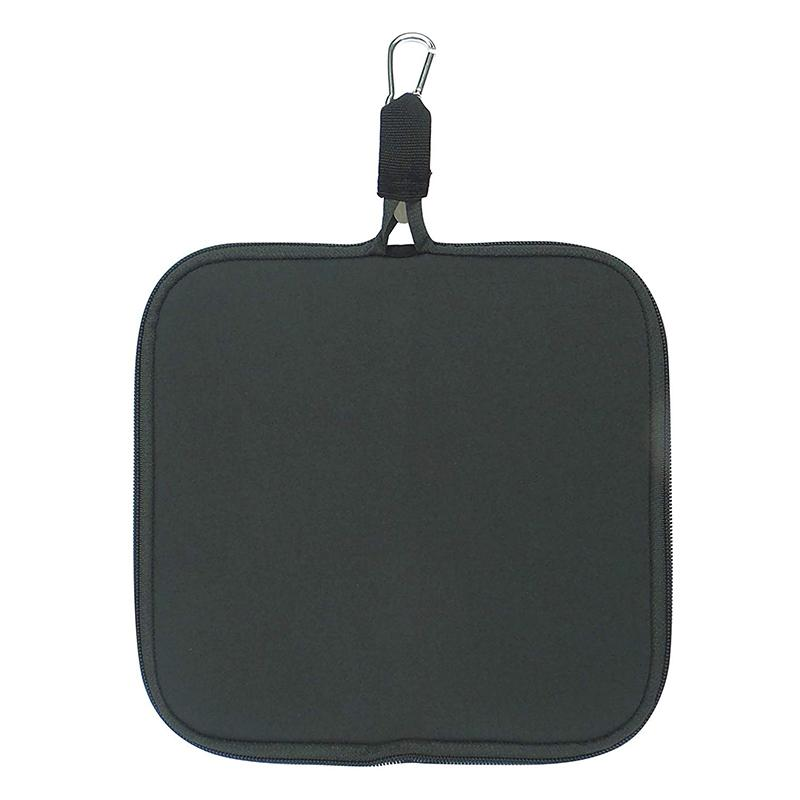Custom Printing Foldable Neoprene Computer Mouse Pad Water Resistant Mouse Pouch Portable Laptop Mouse Bag With Zipper