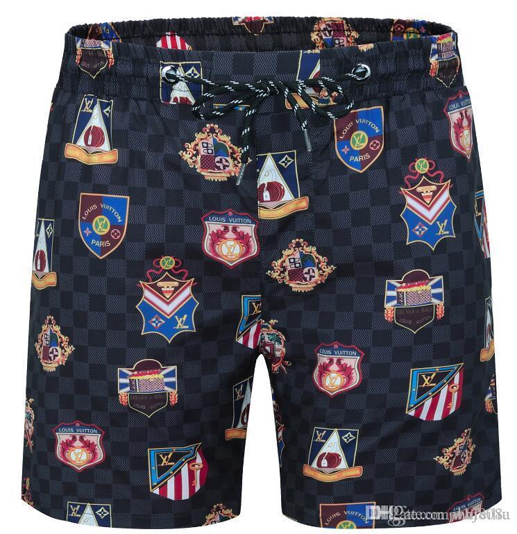 Diseñador de la placa de moda caliente pantalones cortos para hombre de la playa del verano cortocircuitos del deporte del estilo del ocio de la playa de surf shorts de baño de calidad alta PantsKZ112