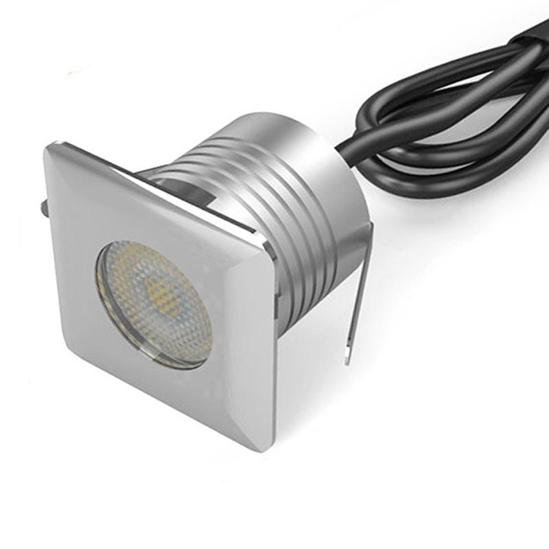 NEW Mini LED Buried Embedded In-ground Outdoor Light 3W DC12V IP67 Square Spotlight Energy saving lamp Warm white Nature white Cold white