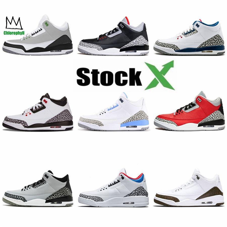 4S Classic 3 scarpe da basket alternativo Motorsport puro cemento bianco denaro Royalty Bred Thunder Green Glow Black Cat Sneakers # 455