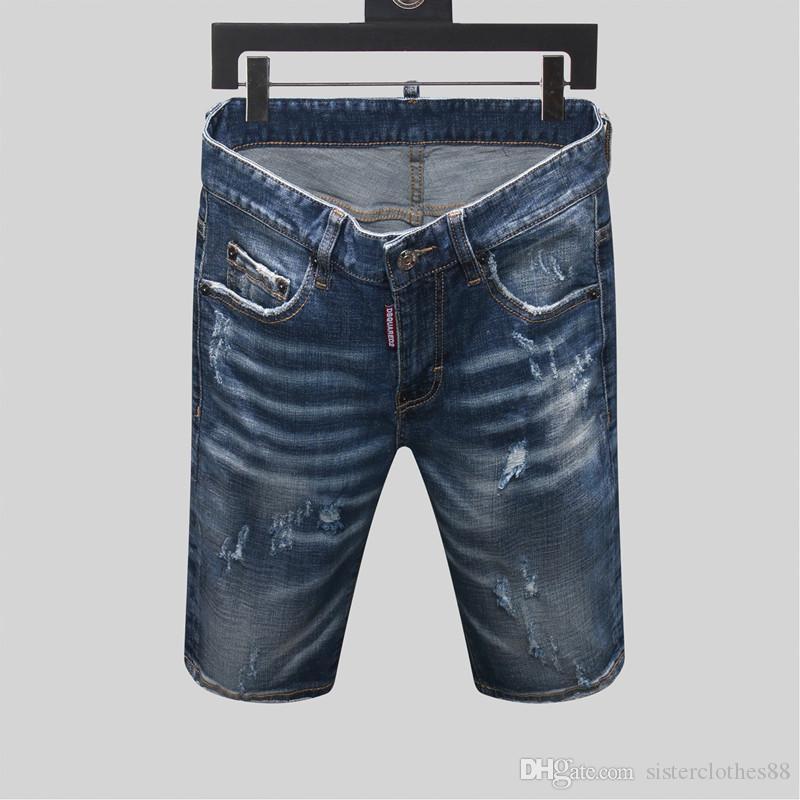 2020 erkek tasarımcı yaz şort pantolon Moda Erkekler Denim Jeans İnce Düz Pantolon Trend Erkek Stilist Pantolon erkek tasarımcı jean şort