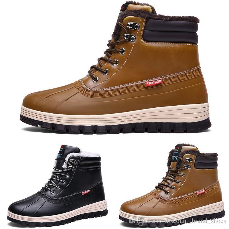2020 kind9 wasserdichte Baumwolle Große Größe Winter triple schwarz grau Mann Junge Männer Stiefel Mens Turnschuhe Stiefel-Trainer-Schuhe im Freien zu Fuß