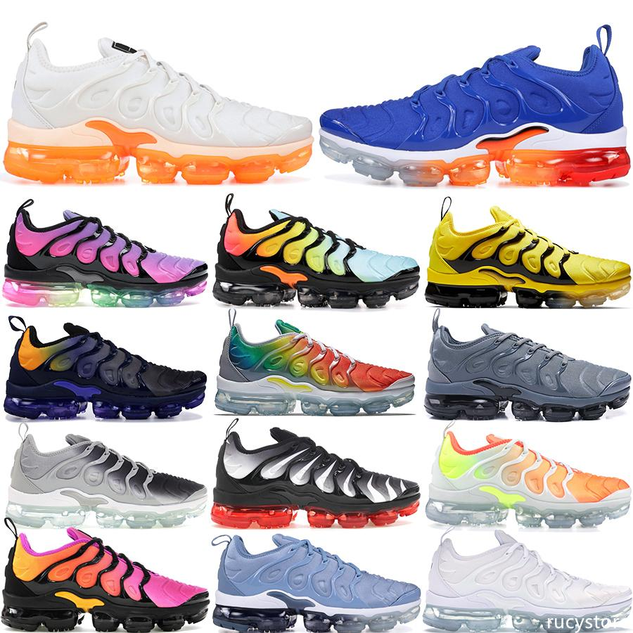 2019 Hot TN plus Jeu royal d'orange mandarine USA menthe Raisin Volt Hyper Violet Formateurs femmes Sport Sneaker Mens Designer chaussures de course