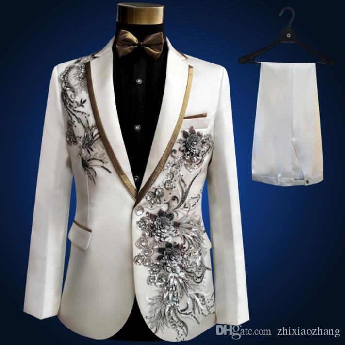 Пиджак мужской костюм комплект с брюками мужские свадебные костюмы костюм певица сценическая одежда тернос мужулино вечернее платье