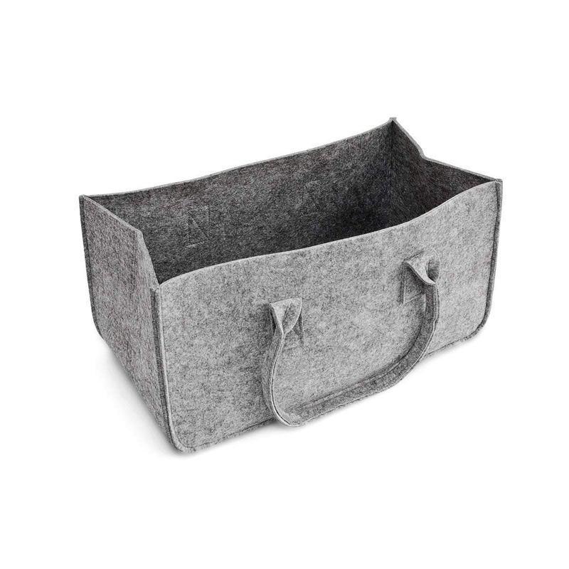 Войлок кошелек, Войлок сумка для хранения большой емкости Повседневный Shopping Bag - серый