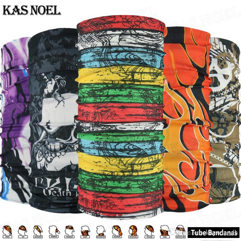 Multi Fashion Styles Breathable Microfiber UV Protection Headgear Seamless Headwear Tubular Skull Face Mask Outdoor Multifunctional Bandana