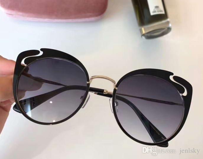 Femmes Cat Eye Sunglasses Or / Noir Gris Shades Lunettes de soleil Designer Lunettes de soleil Shades New avec boîte