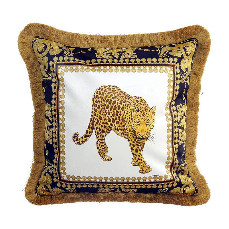 Printed Jacquard Plush Decorative 50cm Home Square Pillowcase Sofa Throw Pillow Cover for Car Hotel *women Home