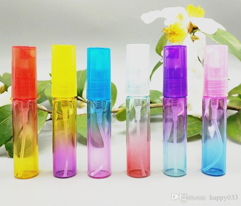 Couleur de dégradé Atomizer sprayTravel Size Fragrance Parfum Contenants d'huile d'aromathérapie colorés Échantillons vides Flacons mini-bouteilles 4ML # 012