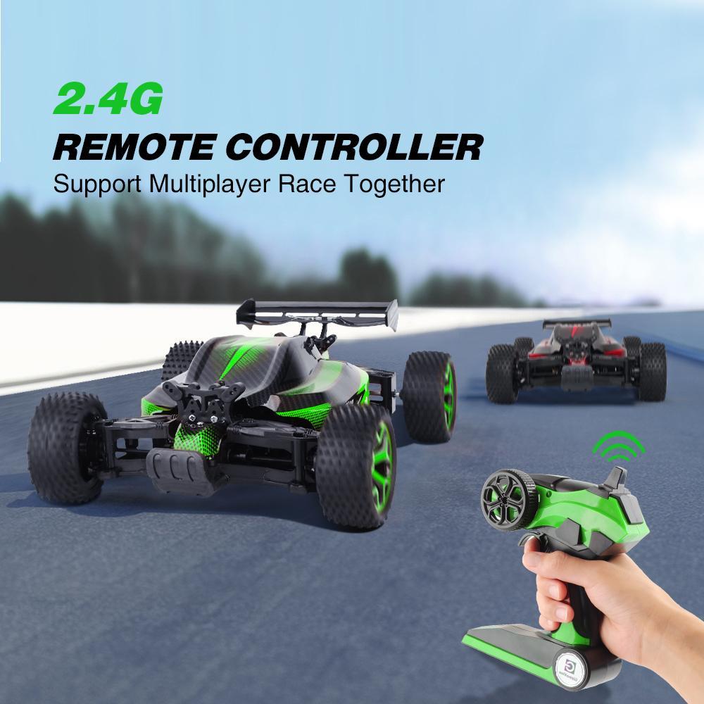 1/18 RC voiture 4 roues motrices 2.4G 4CH haute vitesse 20 km / h RC Toy Cars Scal rock Crawlers Double Motors Buggy Jouets d'entraînement pour les garçons Cadeaux de Noël MX200414