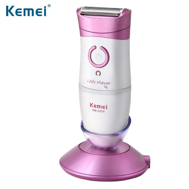 وصول KEMEI جديد إزالة سيدة آلة الحلاقة الكهربائية لنزع الشعر بيكيني Underar الشعر للماء الحلاقة آلة KM-295R