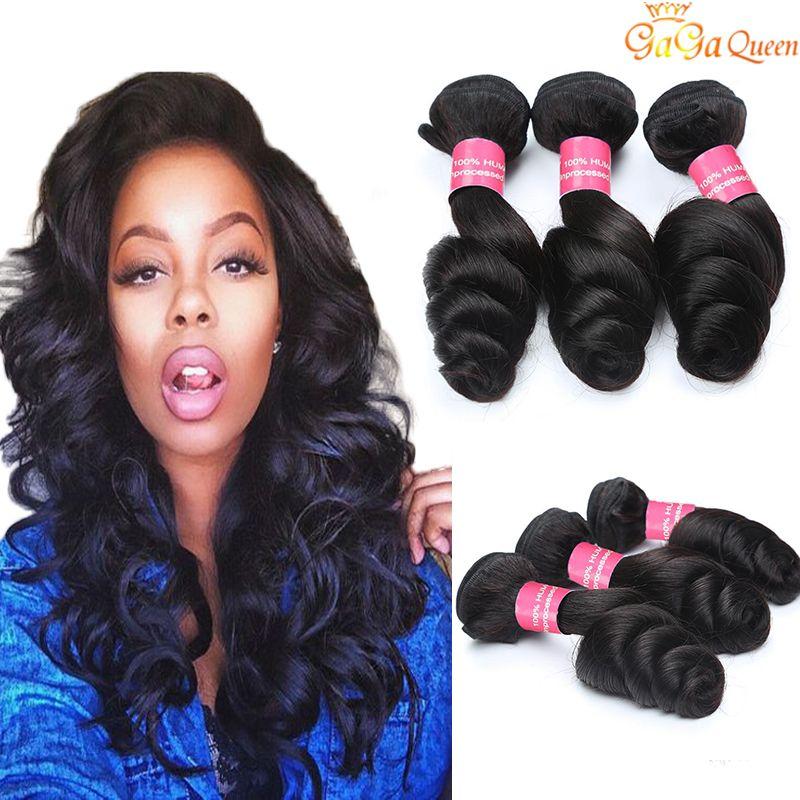 Необработанные 8А малазийский Девы волос Свободных волны 3 пучков малазийского человеческих волос Weave Связка Природа Черного