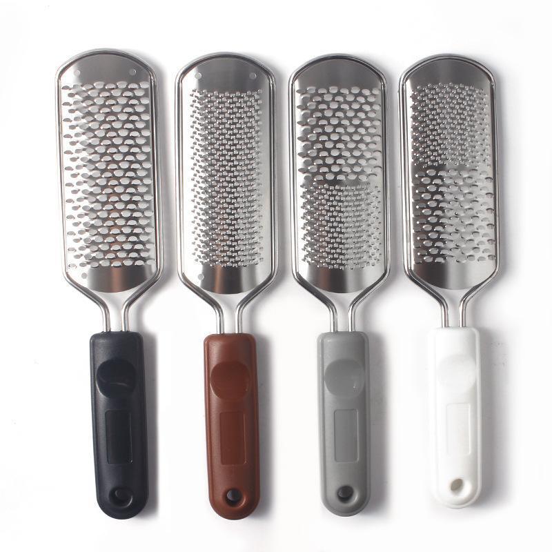 Microplane Grattugia Per Piedi tallone File Raspa Pedicure Foot rimozione del callo duro morte della pelle Scrubber piede nero Scrub Manicure Tools